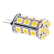 5W G4 Bombillas LED de Mazorca T 24 SMD 5050 370 lm Blanco Cálido DC 12 V