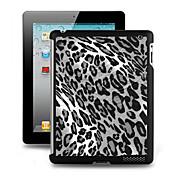 Efecto 3D caso de la cubierta de plástico para el iPad 2/3/4