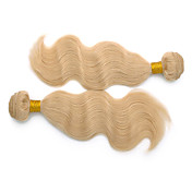 24inch 3Pcs Indian Remy Body Wave Hair Blonde del blanqueo de la trama del pelo