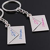 Personalizované ryté dárek ve tvaru Pair Obálka Lover Keychain