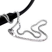 ファッションチタン鋼銀メッキネックレス