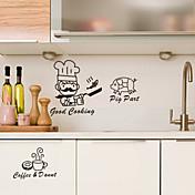 フード魚豚コーヒー装飾壁ステッカー