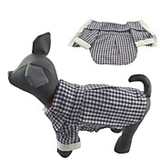 Gatos Perros Camiseta Negro Ropa para Perro Verano Primavera/Otoño Ajedrez Casual/Diario