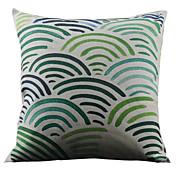 半円形のカラフルなストライプ装飾枕カバー