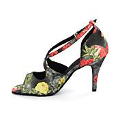 Zapatos de baile (Multicolor/Leopardo) - Danza latina - Personalizados - Tacón grueso