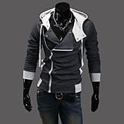 nono capucha capucha cremallera chaqueta oblicua (gris oscuro)