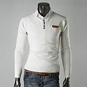 moda cuello v de cuero delgada decoración estándar suéter ocasional prendas de punto o de lesen hombres