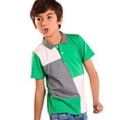 Camiseta Boy-Verano / Primavera / Otoño-Algodón-Cuadrícula