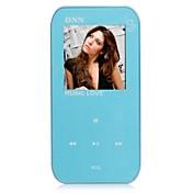 """ONN Q2 Ultra-Slim Reproductor de MP3 de 1.5 """"de pantalla con grabación / FM-Azul (8GB)"""