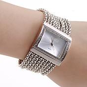 女性用 ファッションウォッチ ブレスレットウォッチ 日本産 クォーツ 銅 バンド 光沢タイプ エレガント腕時計 ラグジュアリー シルバー シルバー