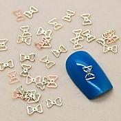 200pcs lijepi šuplje Bowtie zlatnim metalnim kriška nail art ukras
