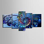 lienzo conjunto Abstracto Clásico Modern,Cinco Paneles Horizontal lámina Decoración de pared For Decoración hogareña