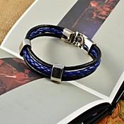Homens Pulseiras de couro Pele Original Moda Jóias Azul Jóias 1peça