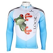 ILPALADINO Maillot de Ciclismo Hombre Manga Larga Bicicleta Camiseta/Maillot Tops Secado rápido Resistente a los UV Transpirable 100%