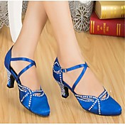 Zapatos de baile (Negro/Azul) - Moderno - Personalizados - Tacón Personalizado