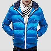 メンズカジュアルファッション暖かい冬の綿パッド入りのジャケットスリム男性のコート