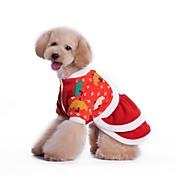 Perros Vestidos Rojo Ropa para Perro Invierno Cosplay / Navidad