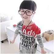 Camiseta Chica deEstampado-Algodón-Invierno / Primavera / Otoño-Multicolor