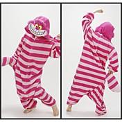 Kigurumi Pijamas Gato gato de Cheshire Leotardo/Pijama Mono Festival/Celebración Ropa de Noche de los Animales Halloween Rojo A RayasLana