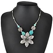 Mujer Turquesa Forma de Flor Turquesa joyería de disfraz Joyas Para