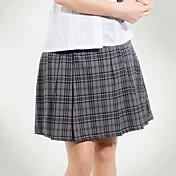 uniformes escolares tattersall gris falda plisada