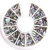 tamaños mezclados arte del clavo ovalada rhinestones de acrílico cristalinas de diamante brillante falso para el diseño de uñas