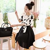 xinfu女性の韓国風ツーピースは大きなサイズの服を装着™