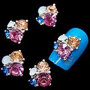 10ks lesk 3d drahokamu květina kutilství příslušenství slitiny nail art dekorace