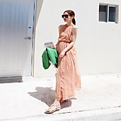 TS® ドレス ( シフォン/ポリエステル ) マキシ - ヴィンテージ/セクシー/ボディコン/ビーチ/パーティー/マキシドレス、バッグ、ビキニなど