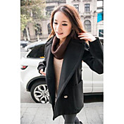 1xuan®の女性のファッションのスタンドネックウールのジャケット