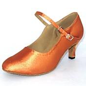 Zapatos de baile (Negro/Marrón) - Moderno Tacón Personalizado