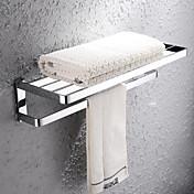 HPB®,タオルバー / 浴室棚 クロム ウォールマウント 67*27*20cm(26.8*10.8*8inch) 真鍮 モダン