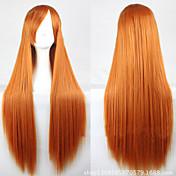 Nový karikatura zlaté dlouhé rovné vlasy paruka 80cm