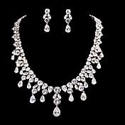 Conjunto de joyas De mujeres Aniversario / Boda / Pedida Sets de Joya Zirconia Cúbica / Aleación Collares / Pendientes Plata
