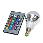 3W E14 Bombillas LED de Globo 300 LM lm RGB Control Remoto AC 100-240 V 1 pieza