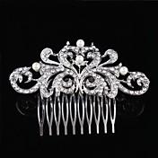 Dame Blomsterpige Sterling Sølv Krystal Legering Medaljon-Bryllup Speciel Lejlighed Hårkamme Blomster 1 Stykke