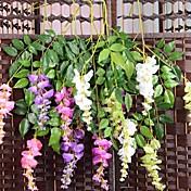 3 Rama Seda Plástico Orquídea Flor de Mesa Flores Artificiales
