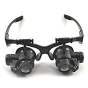 双眼鏡 虫眼鏡 高解像度 ヘッドセット ジェネリック 10X / 15X / 20X / 25X 15mm