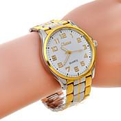 Reloj Casual Banda Oro/Blanco