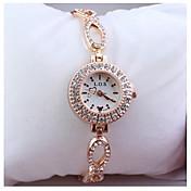 女性のファッションの金の中空クォーツ時計