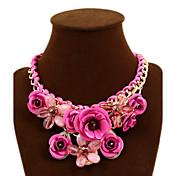 Mujer Collares Declaración Forma de Flor Rose Gema Legierung Festival/Celebración Europeo Joyería Destacada Trenzado joyería de disfraz