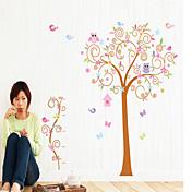 samolepky na zeď na stěnu, barva strom PVC samolepky na zeď