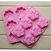 silicón de la manera 6 agujeros jabón molde garras gato torta de la forma utensilios para hornear utensilios de cocina cocina la