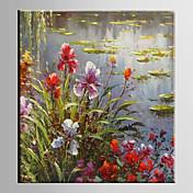 手描きの 花柄/植物のModern 1枚 キャンバス ハング塗装油絵 For ホームデコレーション