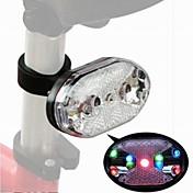 マウンテンバイク円形レーザー警告LEDテールライト(ランダムカラー)