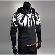 Conjuntos Activewear De los hombres Casual/Trabajo Estampado/Un Color - Mezcla de Algodón - Manga Larga