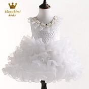 Vestido Chica deJacquard-Poliéster-Todas las Temporadas-Blanco