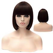 Mujer Pelucas sintéticas Sin Tapa Liso Negro Las pelucas del traje