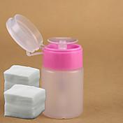 1pc rosa botella dispensadora bomba para remover + 200pcs del clavo herramientas del arte del algodón de uñas de arte de uñas removedor de