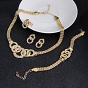 Mujer Juego de Joyas Pendiente Brazalete Joyería Destacada Cosecha joyería de disfraz Zirconia Cúbica Forma de Círculo Collares